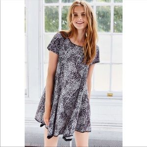 Silence + Noise Leopard Print Witchy T-Shirt Dress